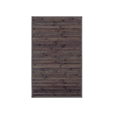 Bamboo Door Mat Mat Size: Rectangle 16 x 26, Color: Brown