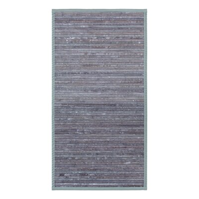 Bamboo Door Mat Mat Size: Rectangle 26 x 46, Color: Gray