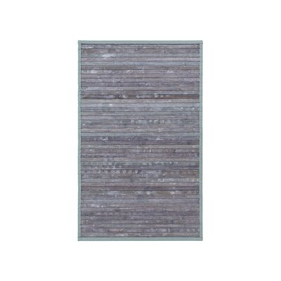 Bamboo Door Mat Mat Size: Rectangle 16 x 26, Color: Gray