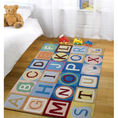 Hawks ABCs Hand-Tufted Blue/Yellow Area Rug