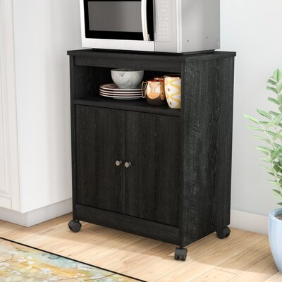 Gallipolis Microwave Cart Finish: Black