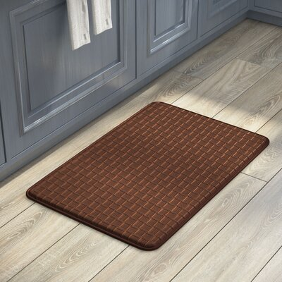 Cary Anti-Fatigue Faux-Leather Kitchen Mat Rug Size: 18 x 28, Color: Mocha