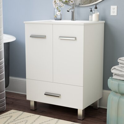 Kasen 24 Single Vanity Set Base Finish: White