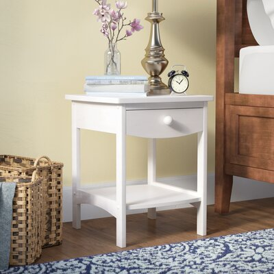 Carlton 1 Drawer Nightstand Color: White