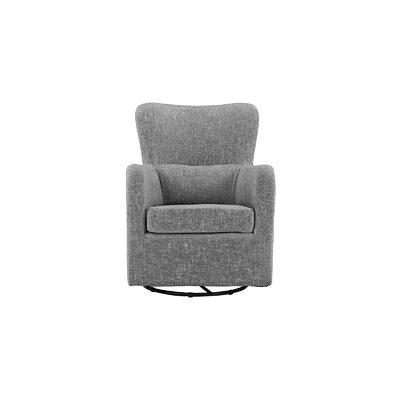 Aucoin Modern Swivel Armchair Upholstery: Light Gray