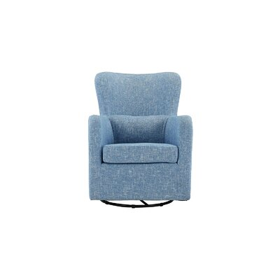 Aucoin Modern Swivel Armchair Upholstery: Light Blue
