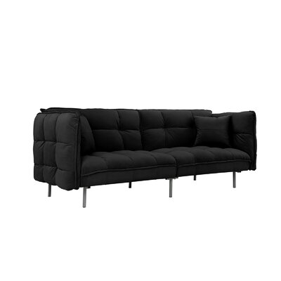Germann Convertible Sofa Upholstery: Black