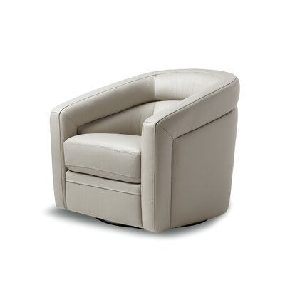 Pothier Swivel Club Chair Upholstery: Gray