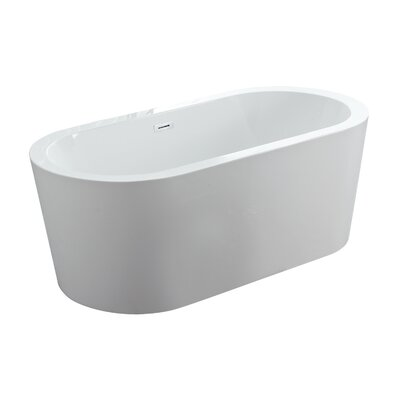 Dionysus 60 x 30 Freestanding Soaking Bathtub Color: White