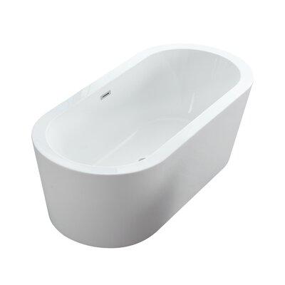 Dionysus Freestanding Soaking Bathtub Size: 23.5 H x 67 W x 30 D