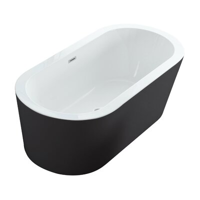 Dionysus 60 x 30 Freestanding Soaking Bathtub Color: Black