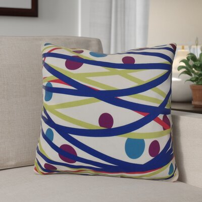 Doodle Decorations Throw Pillow Size: 26 H x 26 W, Color: Royal Blue