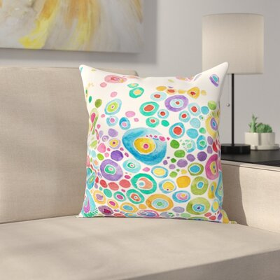 Throw Pillow Size: 18 H x 18 W x 1 D, Color: White