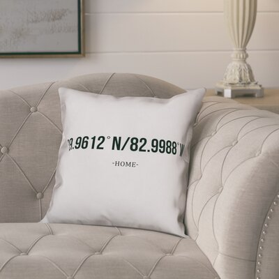 Bloomfield Simple Coordinates Throw Pillow