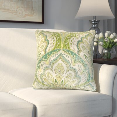 Whittaker Paisley Cotton Throw Pillow Color: Peridot