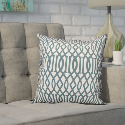 Roswell Slate Imperial Trellis Throw Pillow Size: 16