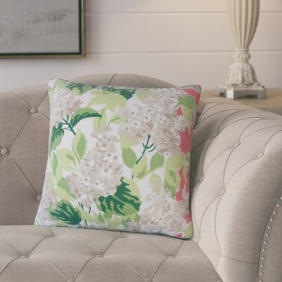 Ramessar Floral Down Filled 100% Cotton Throw Pillow Size: 18 x 18, Color: Rhubarb