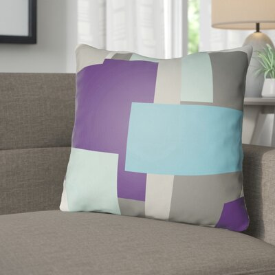Wakefield Throw Pillow Size: 18 H x 18 W x 4 D, Color: Blue / Purple / Grey