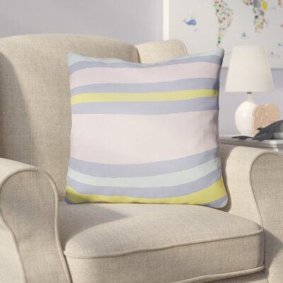 Colinda Striped Indoor Throw Pillow Size: 18 H x 18 W x 4 D, Color: Pink/Yellow