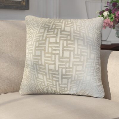 Griswalda Geometric Throw Pillow Color: Gray