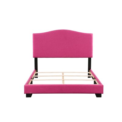 Gene Panel Bed Size: Full, Bed Frame Color: Pink