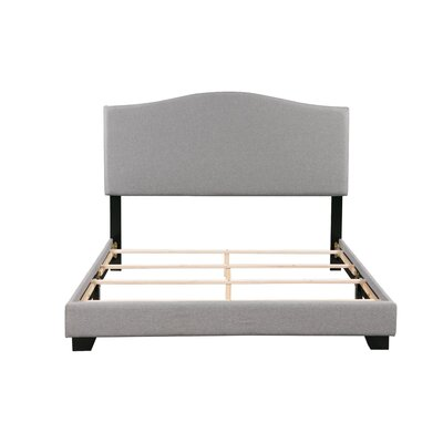 Gene Panel Bed Size: Queen, Bed Frame Color: Gray