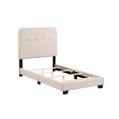 Alexander Panel Bed Size: Twin, Bed Frame Color: Tan