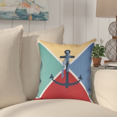 Hancock Anchor Flag Geometric Print Outdoor Throw Pillow Size: 20 H x 20 W, Color: Yellow