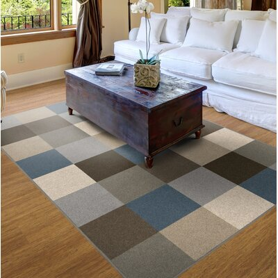 Steinberger Blocks Blue Area Rug Rug Size: 34 x 5
