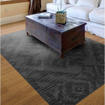 Distressed Tribal Gray Area Rug Rug Size: 3'4