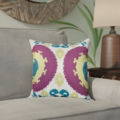 Meetinghouse Boho Geometric Print Throw Pillow Size: 18 H x 18 W, Color: Purple