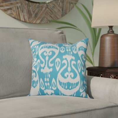 Bridgehampton Ikat Geometric Print Throw Pillow Size: 18 H x 18 W, Color: Turquoise
