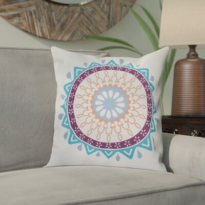 Oliver Mod Geometric Outdoor Throw Pillow Size: 18 H x 18 W, Color: Turquoise