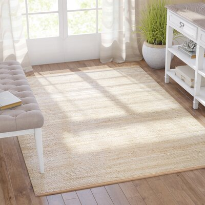 Carillon Hand Woven Ivory Area Rug Rug Size: Rectangle 5 x 7