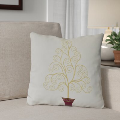Away He Goes Throw Pillow Size: 16 H x 16 W, Color: Off White