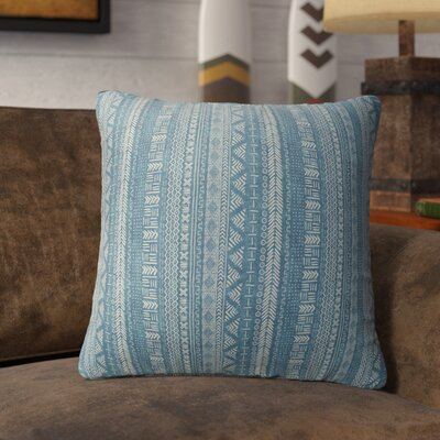 Couturier Throw Pillow with Zipper Color: Teal, Size: 16 H x 16 W