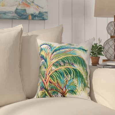 Granata Vacation Floral Throw Pillow Size: 16 H x 16 W, Color: White