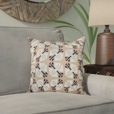 Willa Jodhpur Geometric Print Throw Pillow Size: 18 H x 18 W, Color: Taupe