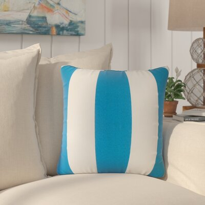 Lozier Striped Throw Pillow Color: Blue