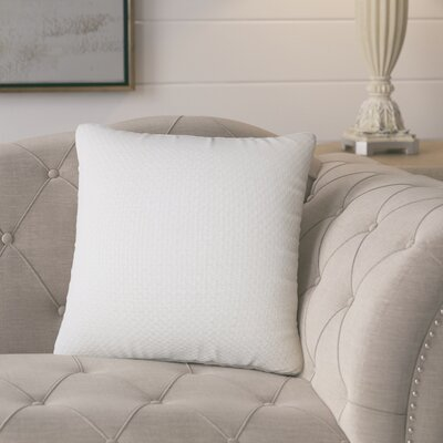 Nik Solid Down Filled Throw Pillow Size: 18 x 18, Color: Antique White