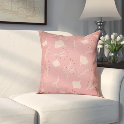 Orchard Lane Spring Floral Throw Pillow Size: 18 H x 18 W, Color: Coral