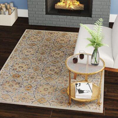 Holder Ivory Area Rug Rug Size: Rectangle 53 x 77