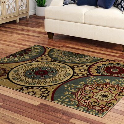Arline Rubberback Beige Indoor/Outdoor Soft Area Rug Rug Size: 5 x 66