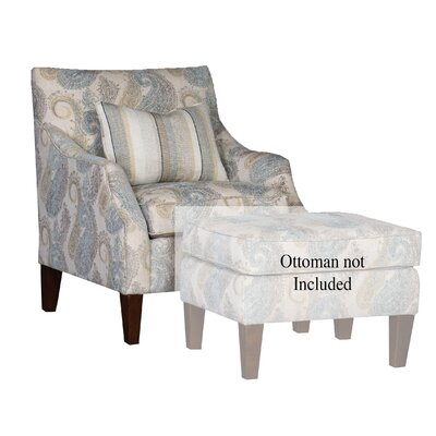 Durso Club Chair Upholstery: Cicero Mist Damask