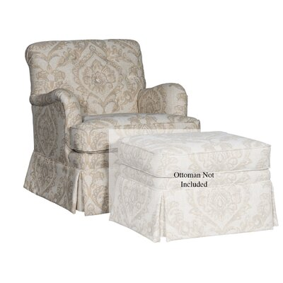 Pisano Club Chair Upholstery: Olvera Sandstone Damask