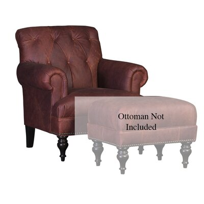 Cuadrado Club Chair Upholstery: Flea Market Oxblood Solid, Finish: Espresso