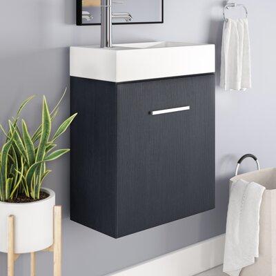 Tenafly 18 Single Wall Mount Modern Bathroom Vanity Set Base Finish: Gray Oak