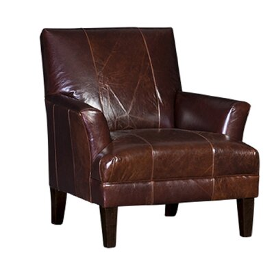 Marcell Club Chair Upholstery: Monte Cristo Chestnut, Finish: Espresso