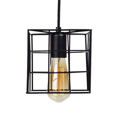 Clabaugh Grid Wire Industrial 1-Light Mini Pendant
