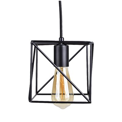 Cirebon Square Modern Industrial Cage 1-Light Mini Pendant
